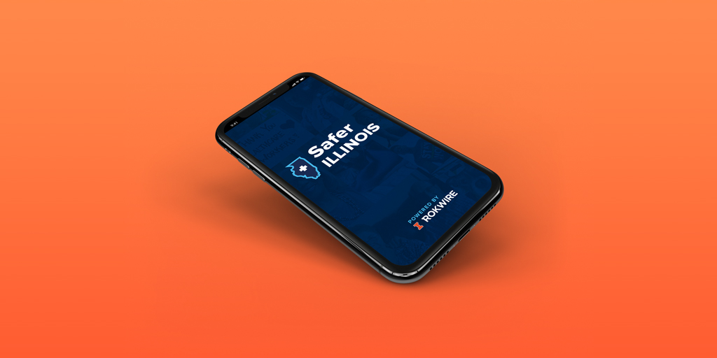 safer illinois app opened on a mobile phone