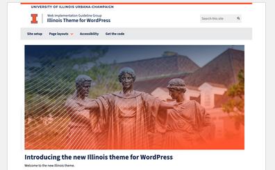 screenshot of Illinois wordpress theme