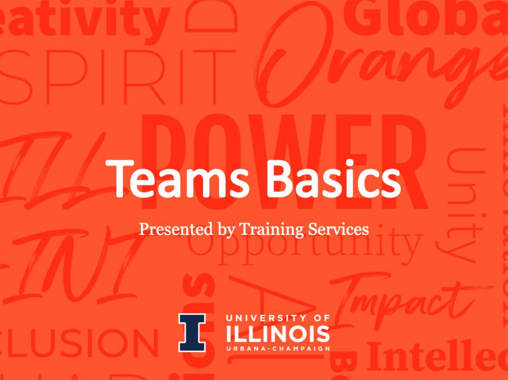 cover slide for Teams Basics training