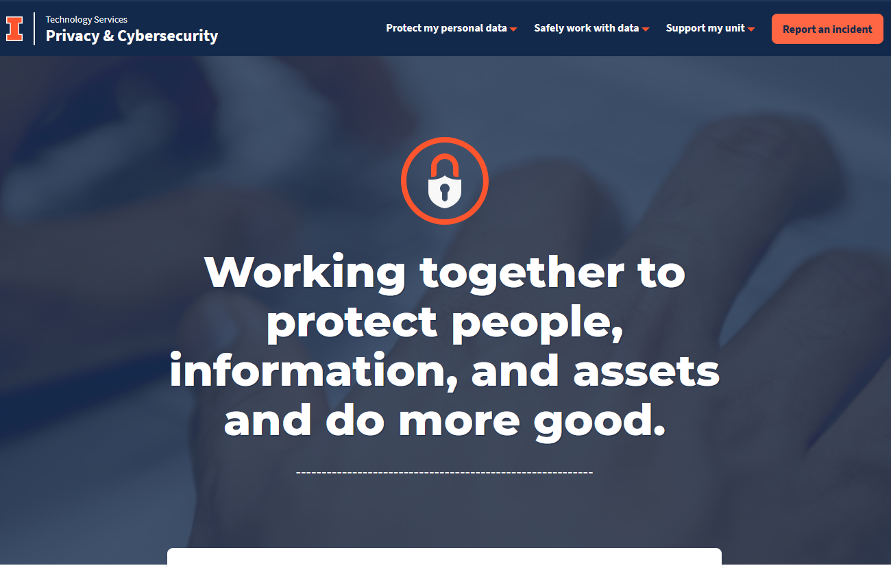 Privacy and Cybersecurity website home page