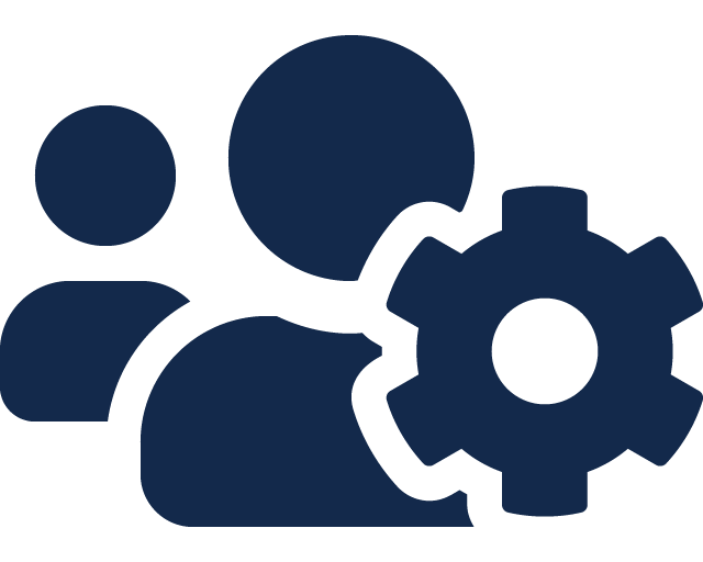 Users cog icon